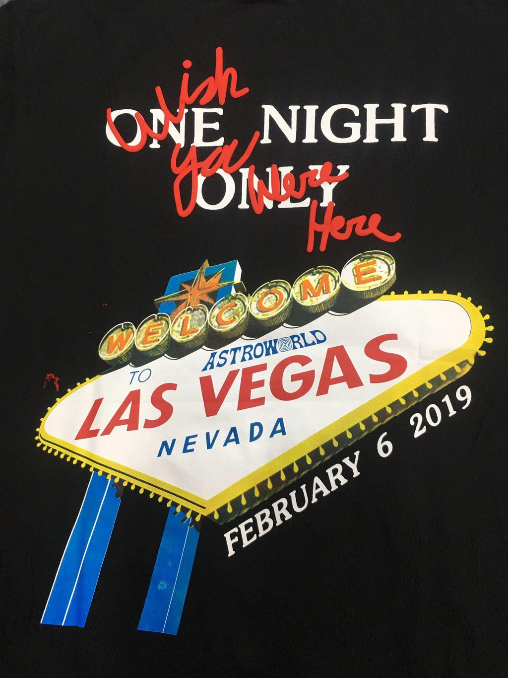 One Night Las Vegas Tour Shirt - Shoplist