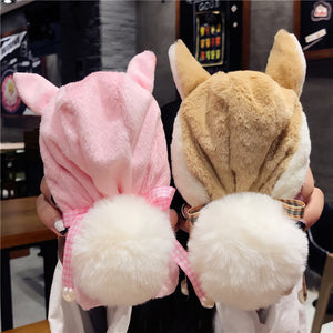 Fluffy Rabbit Hat Phone Case - Shoplist