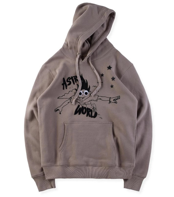 Look Mom I Can Fly Embroidered Hoodie - Shoplist