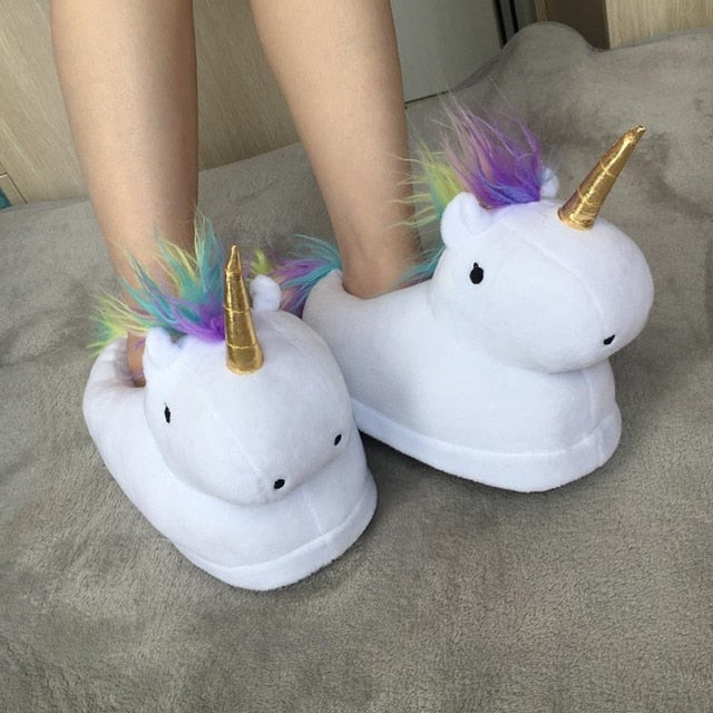 Slippers Unicorn Plush