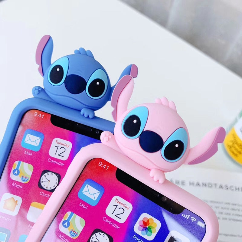 Luxury cute 3D Stitch Case For Iphone