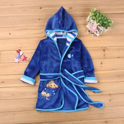 Hooded bathrobe for boys and girls - Shoplist
