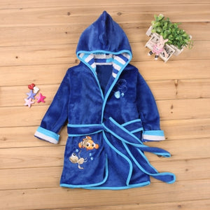 Hooded bathrobe for boys and girls