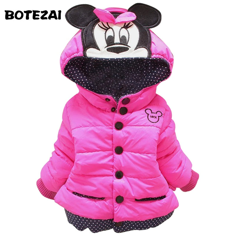 Mini down jacket with hood for girls - Shoplist