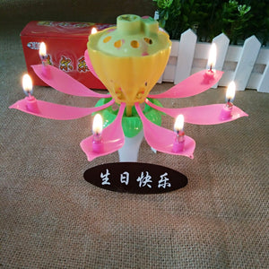 Birthday candle-flower