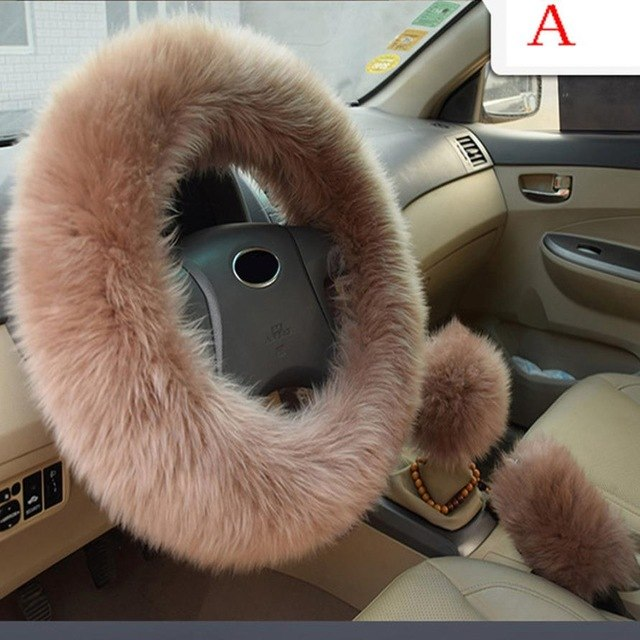 Styling Car Accessories Plush Warm Steering