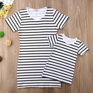 Striped Mother Daughter Dress - Shoplist