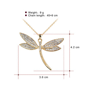 Dragonfly pendant with crystal - Shoplist
