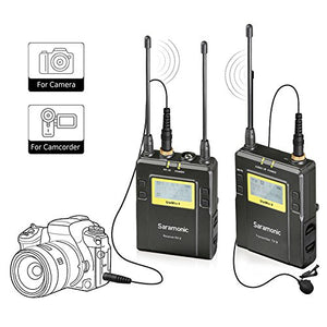 UK Only | Saramonic UWMIC9 (RX9+TX9) 96-Channel Digital UHF Wireless Lavalier Microphone System with Bodypack Transmitter
