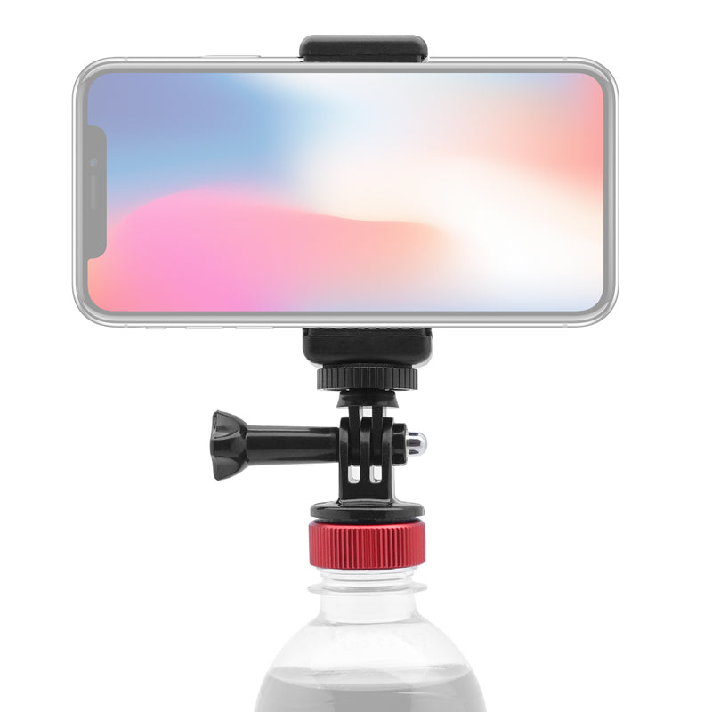 [MomanPlay Merch] Moman Multi-Functional Bottle Cap Phone Holder Universal Smartphone Mount Used as Gopro Floating Hand Grip