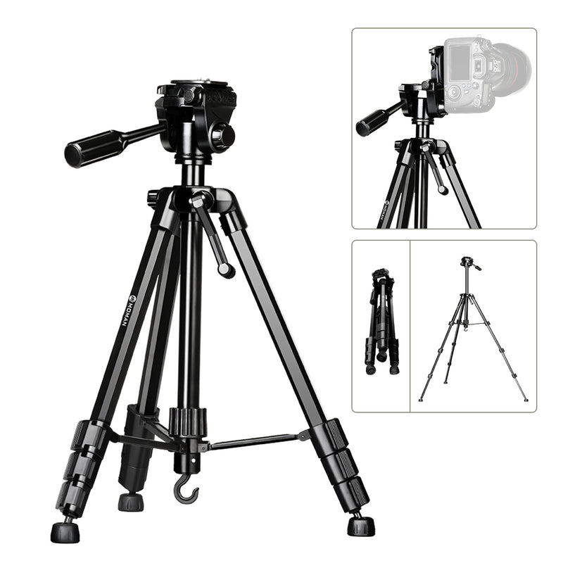 US ONLY | Moman Camera Aluminum Alloy Tripod with Panorama Ball Head 60-inch for DSLR