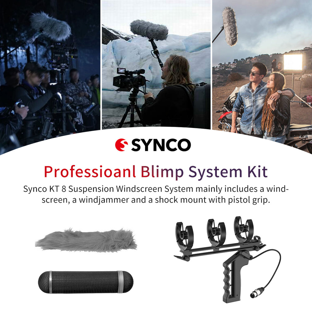 Synco KT 8 Blimp Windscreen Shock Mount Suspension System for Shotgun Microphones