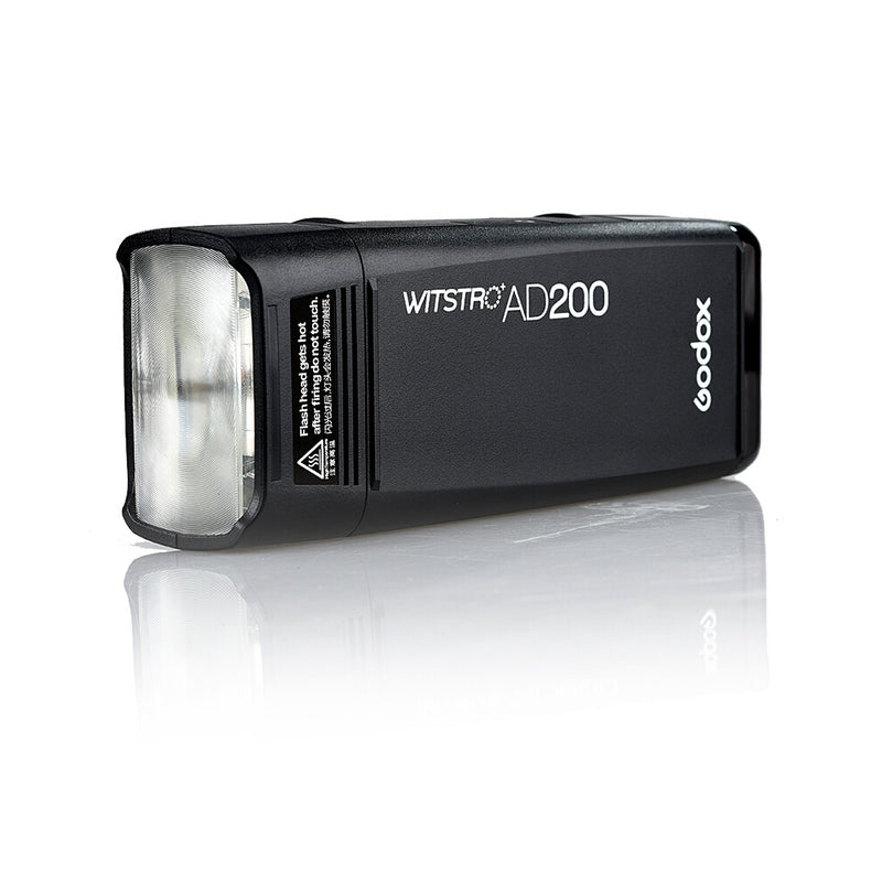Godox AD200 Pocket Flash Bare Bulb & Speedlite Flash for Canon, Nikon, Sony DSLR Cameras