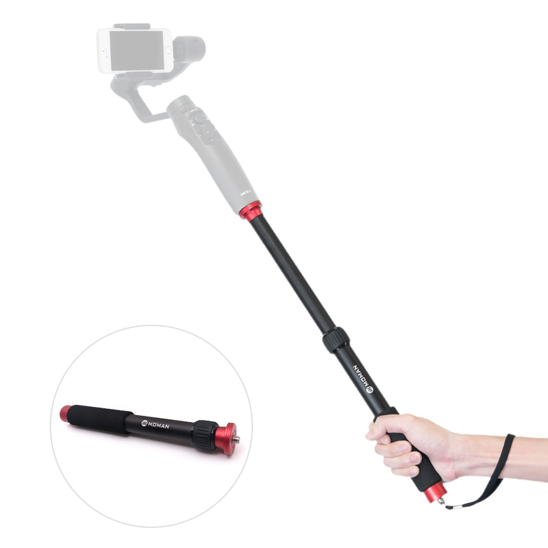 Moman Handheld Extension Rod Retractable Selfie Stick for Smartphone Gimbal