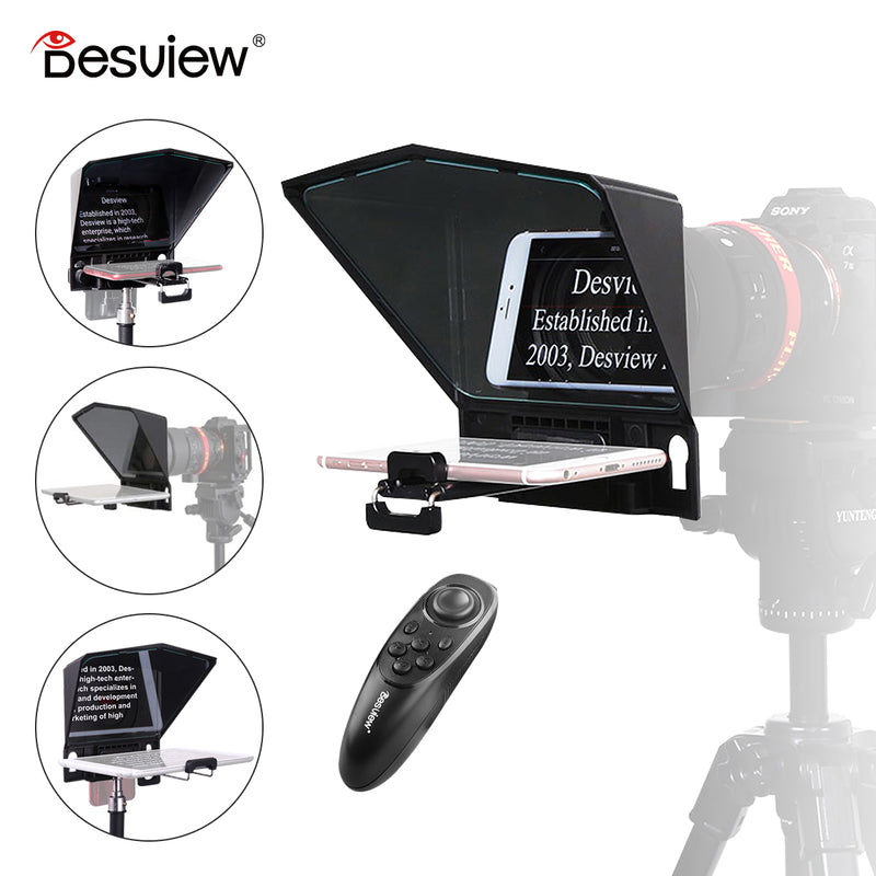 Desview T2 Portable Teleprompter Kit for Smartphone Tablet DSLR Camera