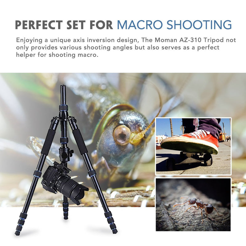 US ONLY | Brand New | Moman AZ310 Camera Tripod / Monopod, Aluminum Alloy, Axis Inversion Design