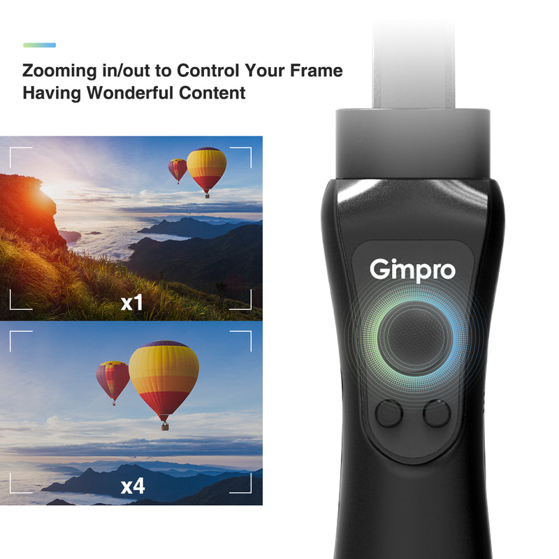 Gimpro ONE 3-Axis Gimbal Stabilizer for Smartphones up to 6.5'' 240g, 12h Running Time