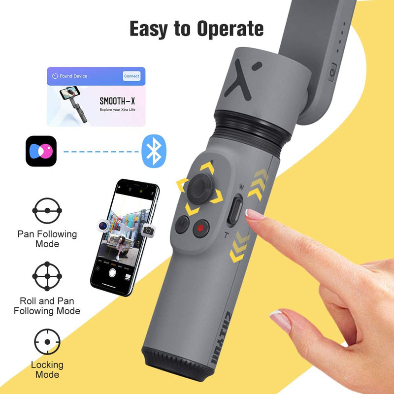 Zhiyun Smooth-X  Selfie Stick Extendable Foldable Mobile Phone Gimbal Stabilizer