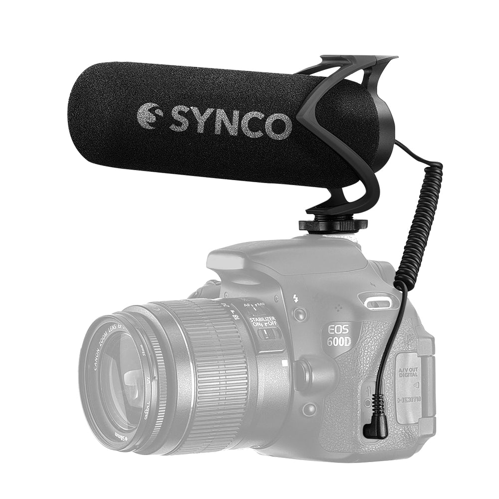 Synco Mic-M2 Shotgun Microphone for DSLR/Mirrorless Cameras & Smartphones