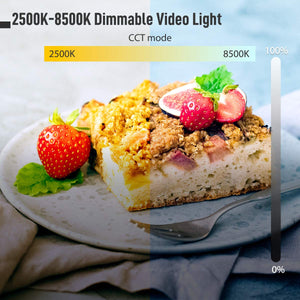Moman ML9-RGB On-Camera LED Video Light Panel 2500K to 8500K TLCI 98+ CRI 96+ Dimmable Lighting Built-in Battery
