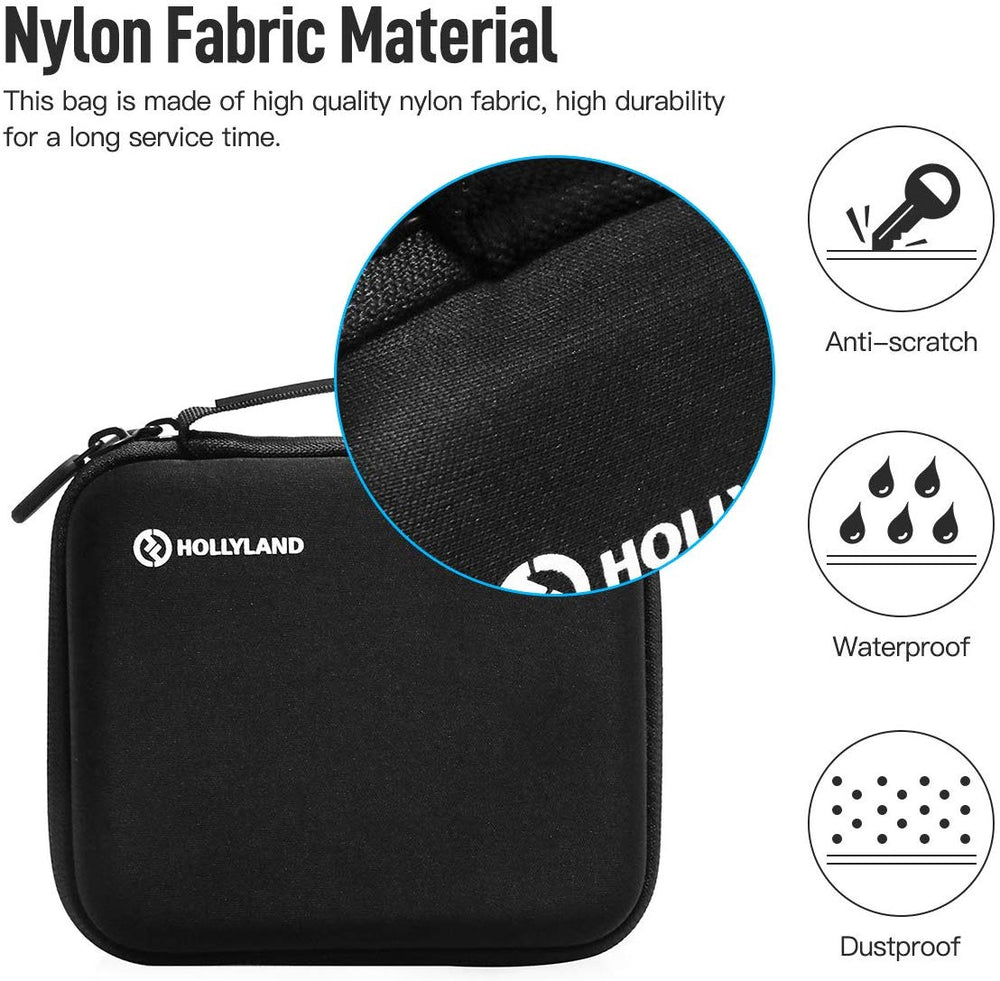 HollyView Hard EVA Travel Carrying Case, Protective Multi-Functional Waterproof Storage Bag for Hollyland Mars 300 400 400S Dual Hdmi Wireless Video Transmission