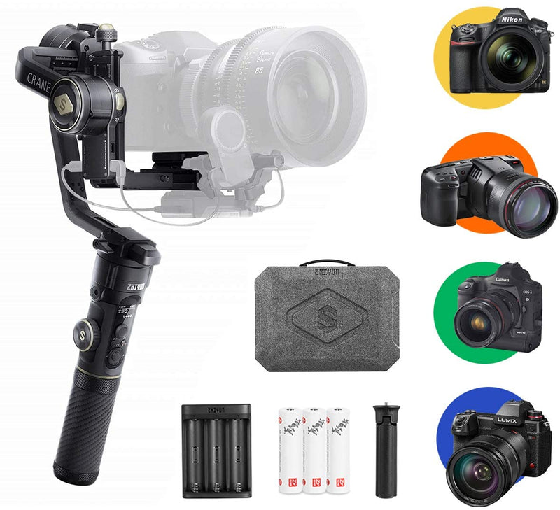 Zhiyun Crane 2S Official, Handheld Gimbal Stabilizer Professional for DSLR Camera, Compatible with Panasonic Nikon Sony Nikon BMPCC, Standard Package