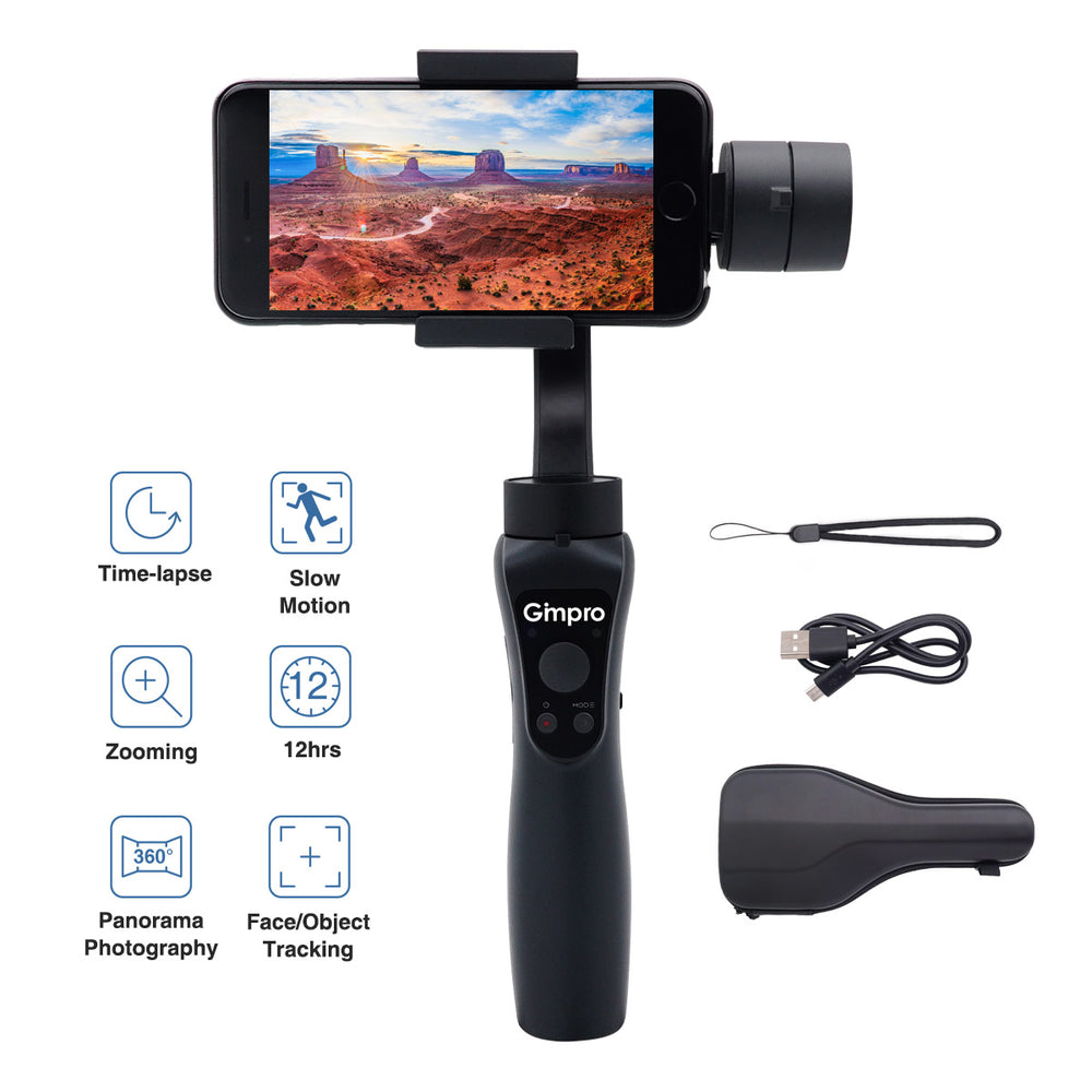 Moman Gimpro ONE 3-Axis Gimbal Stabilizer for Smartphones up to 6.5'' 240g, 12h Running Time