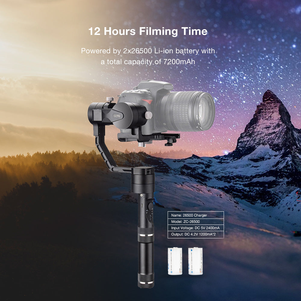 Zhiyun Crane V2 3 Axis Handheld Gimbal Stabilizer for Mirrorless and DSLR Cameras