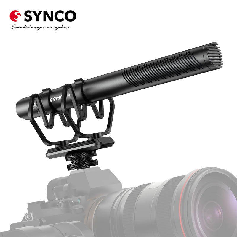 Synco Mic-D30 Super-cardioid Condenser Shotgun Microphone with Overdrive Protection, Gain Control