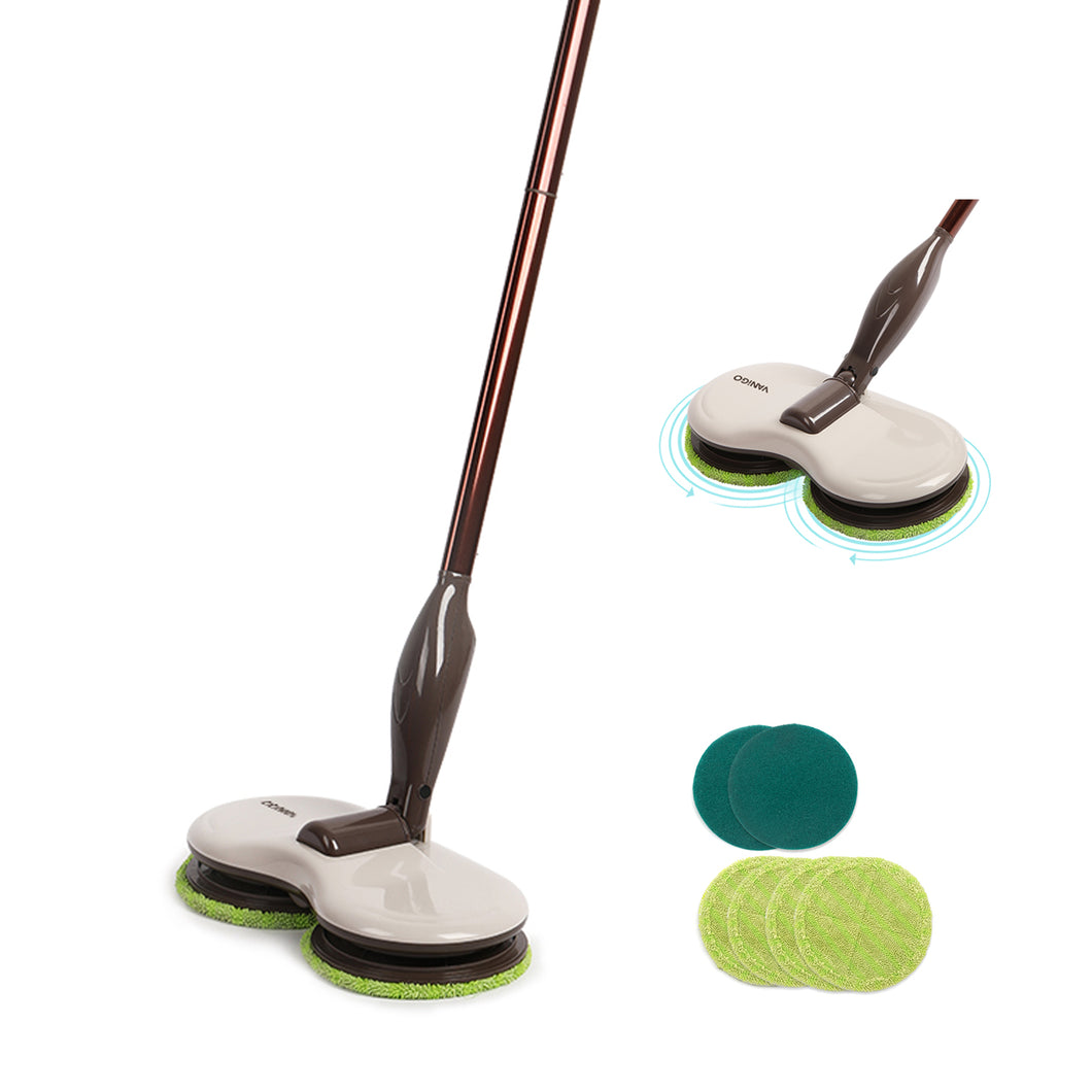 VANiGO G26 Electric Mop with Dual Rotating Cleaning Heads Adjustable Length Floor Wiper - EU PLUG