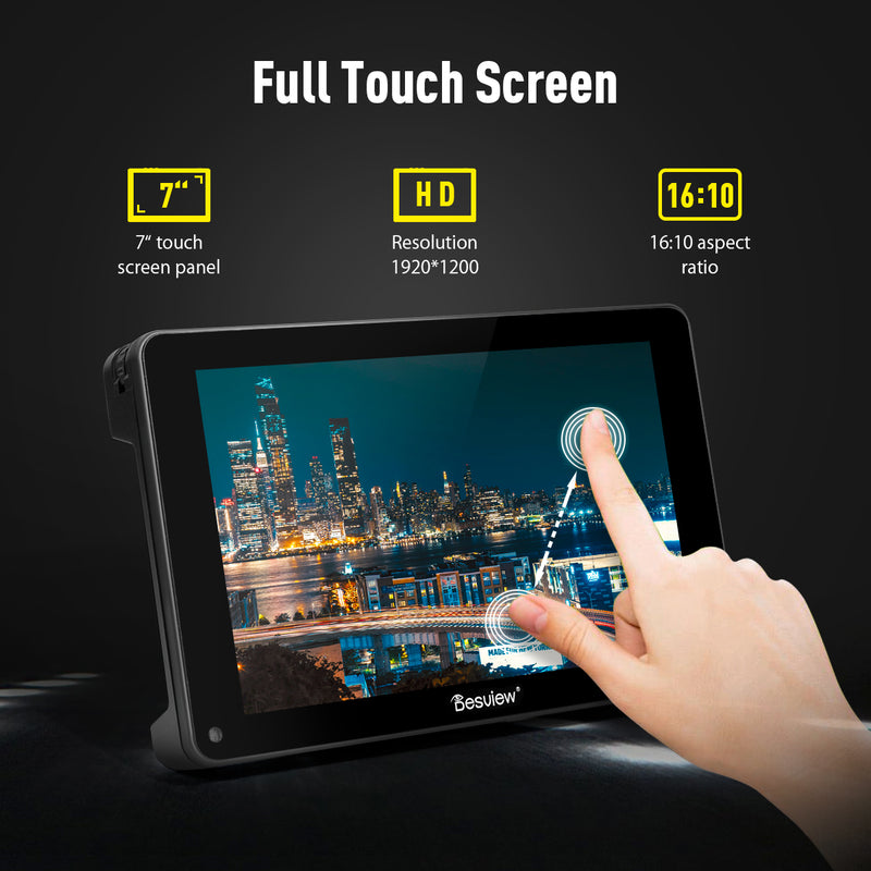 "Desview R7S 7"" Touch Screen 1000nits 1920×1200 Field Monitor HDMI & 3G-SDI"