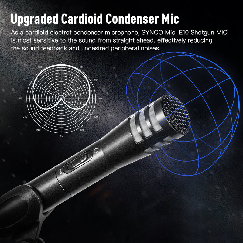 Synco Mic-E10 Cardioid Professional Vocal & Instrument Microphone