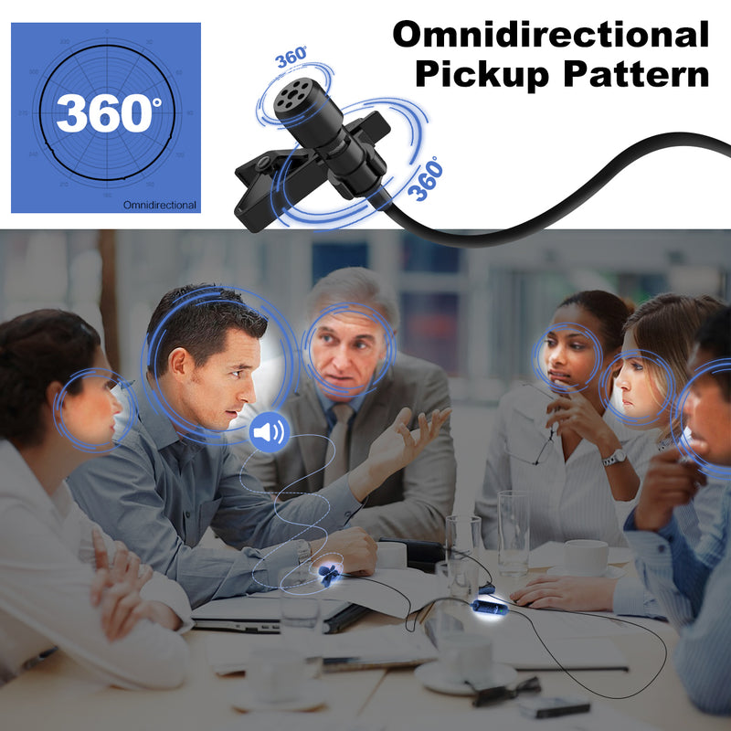 Synco Lav-S6E Omnidirectional Condenser Lavalier Microphone for Cameras/ Phones