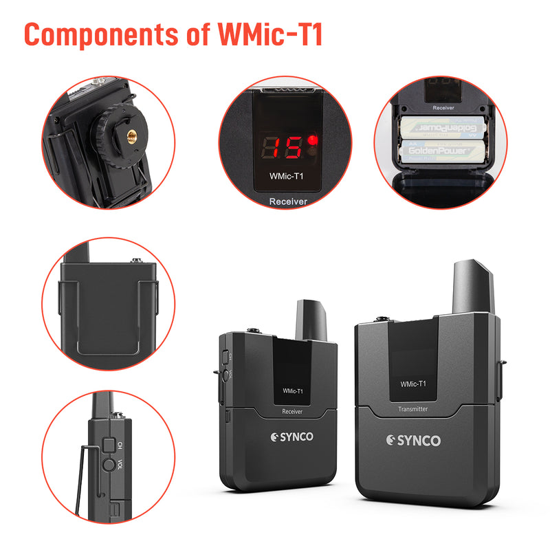 Synco Wmic-T1 Multi-Channel Digital UHF Wireless Lavalier Microphone System