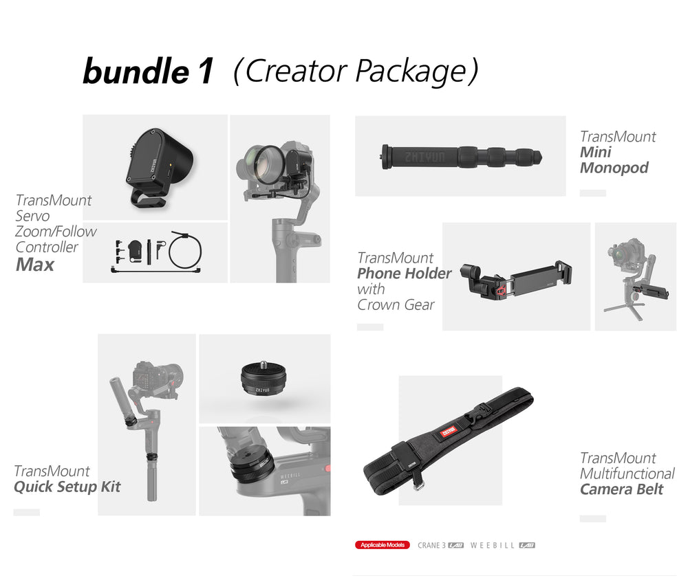 Zhiyun Official Accessories for Weebill Lab 3 Axis Gimbal