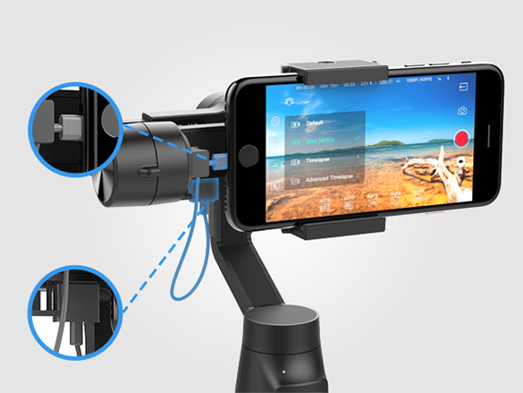 Moza Mini-MI 3-Axis Gimbal for Smartphone with Wireless Charging Support
