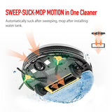 VANiGO A3 Smart Robot Vacuum Cleaner with ESLAM Mapping Gyro Navigation 3 in 1 Sweep Mop Robot