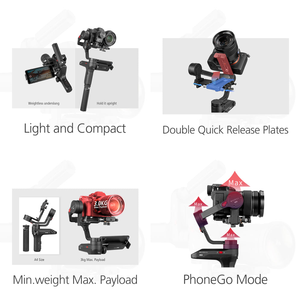 [NEW RELEASE] Zhiyun WEEBILL LAB 3 Axis Gimbal for Mirrorless Cameras 2018 New Series