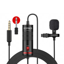 Synco Lav-S6 Omnidirectional Condenser Lavalier Microphone for Cameras/ Phones