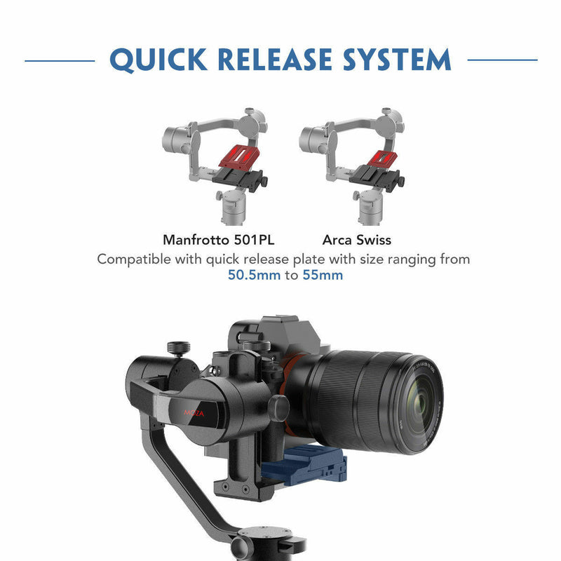 UK Only | MOZA AirCross 3-Axis Handheld Gimbal Stabilizer for Mirrorless Camera to 3.9Lb