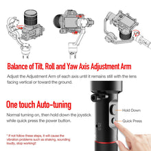 US ONLY | REFURBISHED BY MOZA | MOZA AirCross 3-Axis Handheld Gimbal Stabilizer for Mirrorless Camera to 3.9Lb