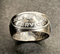 Sobriety Anniversary Silver Coin  Rings, Sobriety Inspired