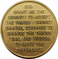 Serenity Prayer Golden Butterfly Affirmation Sobriety Coin Key Chain - B E X Coin Mint & SOBRIETY INSPIRED by BEX