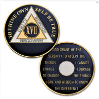 AA Traditional Proof-Like Bronze Tri-Plate – Gold, Nickel, and Blue Enamel - B E X Coin Mint & SOBRIETY INSPIRED by BEX