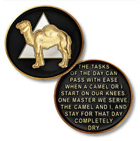 AA Camel Pocket Medallion– Tri-Plate Proof-Like Bronze with Enamel - B E X Coin Mint & SOBRIETY INSPIRED by BEX