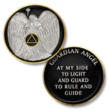 AA Guardian Angel - Proof-like Bronze Tr-Plate -Traditional Pocket Medallion - B E X Coin Mint & SOBRIETY INSPIRED by BEX