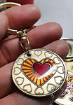 """My Heart is in My Recovery"" Affirmation Sobriety Coin Key Chain - B E X Coin Mint & SOBRIETY INSPIRED by BEX"