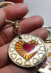 Affirmations coin and medallion key chains at Sobriety Inspired by BEX Coin Mint