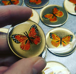 Golden Butterfly Affirmation Sobriety Coin - B E X Coin Mint & SOBRIETY INSPIRED by BEX