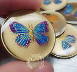 Blue Butterfly Affirmation Sobriety Coins - B E X Coin Mint & SOBRIETY INSPIRED by BEX